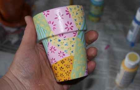 Painting Flower Pots Kids Craft