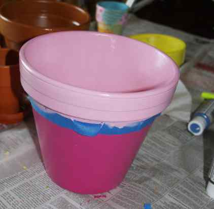 Painting Flower Pots Kids Craft