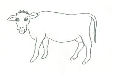 cow drawing for kids photo22 - Drawing Paper For Kids