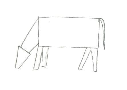 Paper Mache Cow